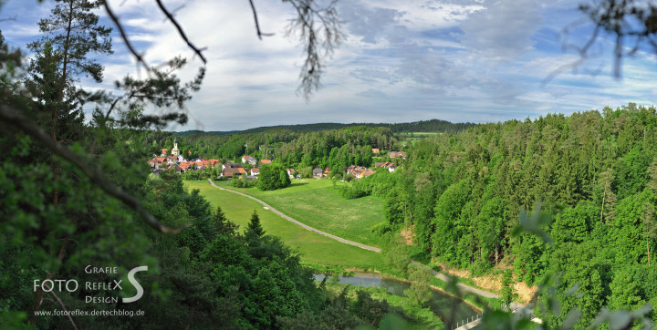 Panorama - Nankendorf vom sogenannten Sausteinfelsen aus