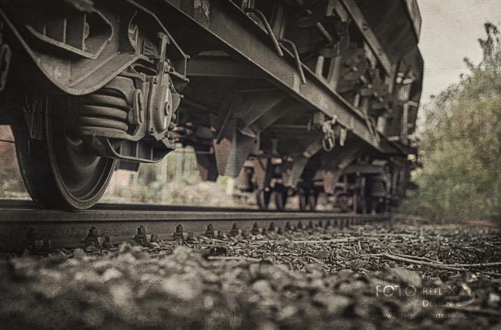 Güterwagon von unten